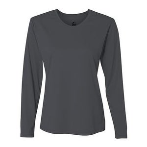 662e52f97 Shop Performance Women's Long Sleeve T-Shirt - Graphite - M - Free Shipping  On Orders Over $45 - Overstock - 15989198