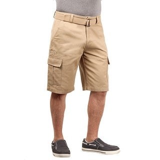1688 Revolution Men's Belted Twill Cargo Shorts With Phone Pocket