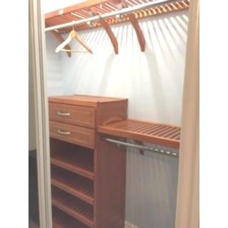 john louis caramel finish 16inch deep woodcrest closet system