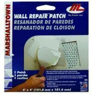 "Marshalltown DP4 Drywall Repair Patch Kit 4""x4"""