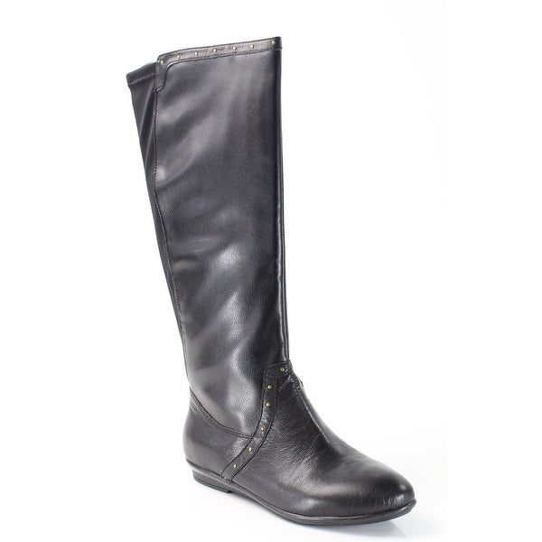 Easy Spirit Black Kandis Shoes 6.5M Knee-High Leather Boots