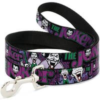 Dog Leash - Joker Face Logo Spades Black Green Purple