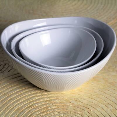 Euro Ceramica Highlands Porcelain Serving Bowls (Set of 3)