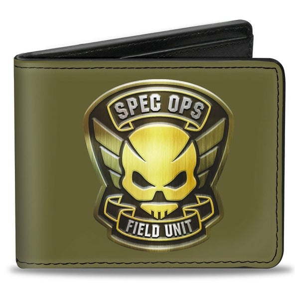 Resident Evil Spec Ops Field Unit Badge Black Gold White Bi Fold Wallet - One Size Fits most