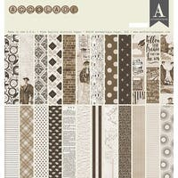 """Authentique Double-Sided Cardstock Pad 12""""X12"""" 24/Pkg-Accolade, 8 Designs/3 Each"""