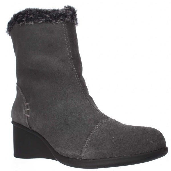 Aerosoles Bravery Wedge Fleece Lined Winter Boots, Grey - 10.5 us