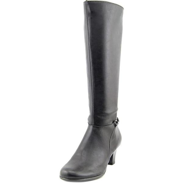 Aerosoles Margarita Women Round Toe Synthetic Black Knee High Boot
