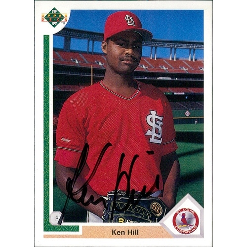 Signed Hill Ken St Louis Cardinals 1991 Upper Deck Baseball Card Autographed