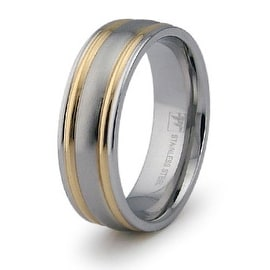 Gold Plated Stainless Steel Ring (Sizes 9-12)