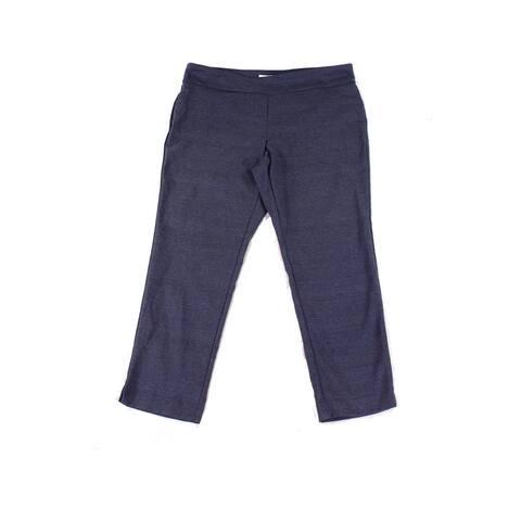 Charter Club Womens Blue Size 20W Plus Tummy Control Slim Pants Stretch