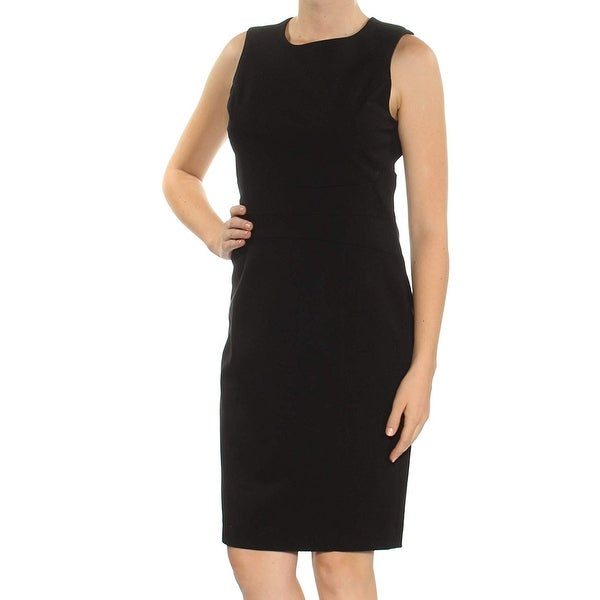 852608027d12 Shop Kasper Black Women's Size 8 Sleeveless Ponte-Knit Sheath Dress - On  Sale - Free Shipping On Orders Over $45 - Overstock - 27298985