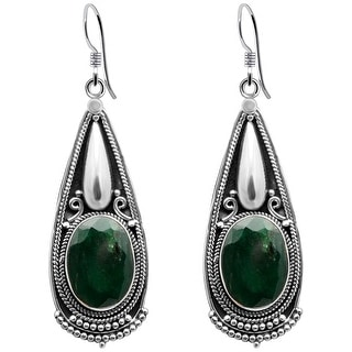 Link to Multi Color Gemstones Sterling Silver Oval Dangle Earrings by Orchid Jewelry Similar Items in Earrings