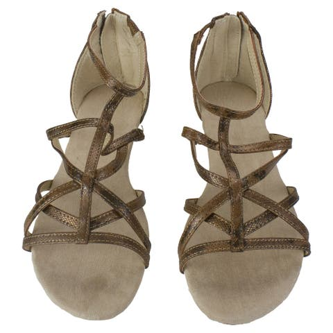 Brown Demi Wedge Sandals- Woman's Size 6