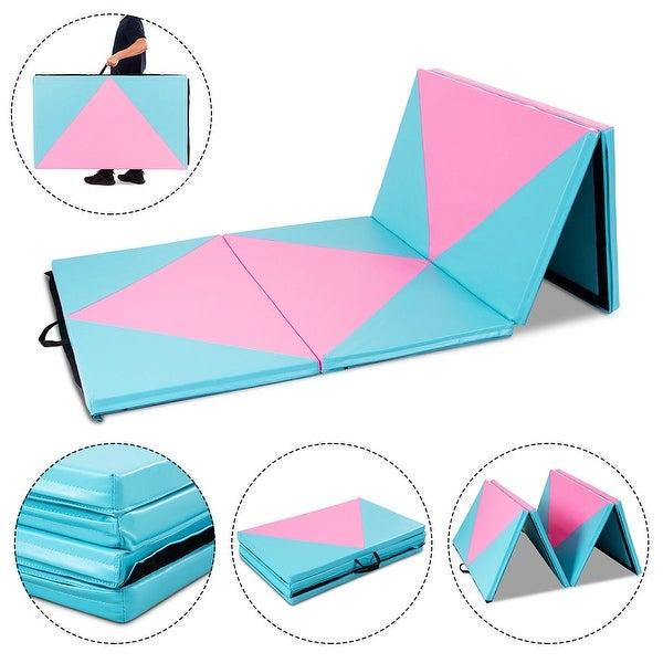 Shop Gymax 4'x10'x2'' Gymnastics Mat Folding Portable