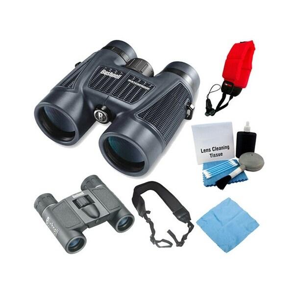 Bushnell H20 10X42 Binoculars RP WP/FP, Powerview 8x21 Binoculars,  Accessories