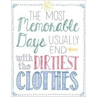 """8""""X10"""" Stitched In Floss - Most Memorable Days Stamped Embroidery Kit"""