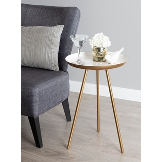 Link to Kate and Laurel Laranya Round Metal Side Table - 15x15x22.5 Similar Items in Living Room Furniture