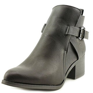 Mia Nahira Women Pointed Toe Synthetic Black Ankle Boot