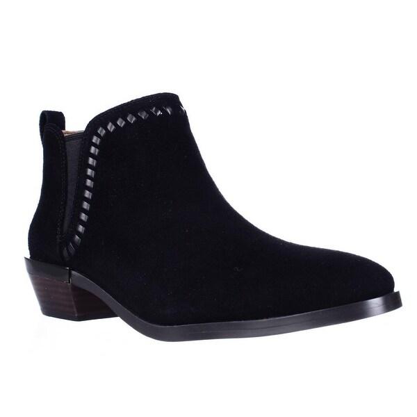Coach Carter Woven Chelsea Ankle Boots, Black/Black