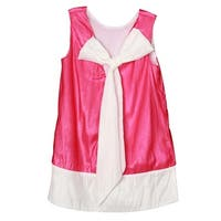 Richie House Girls' Pink Dress with White Bow