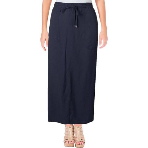 Lauren Ralph Lauren Womens Cargo Skirt Drawstring Maxi