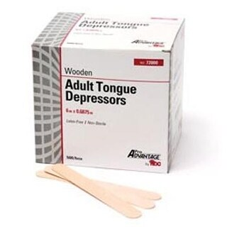 "Pro Advantage Tongue Depressors - Non-Sterile - Adult - 6""x 11/16"" - 500/Bx - 10Bx/Cs"