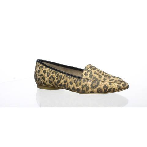 Donald J Pliner Womens Deedee Leopard Cork Loafers Size 5.5