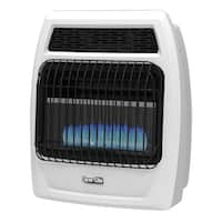 Dyna-Glo BFSS10NGT-2N 10,000 BTU Natural Gas Blue Flame Vent Free Thermostatic Wall Heater - White