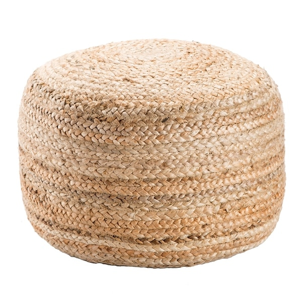 The Curated Nomad Camarillo Modern Cylindrical Shape Jute Pouf. Opens flyout.