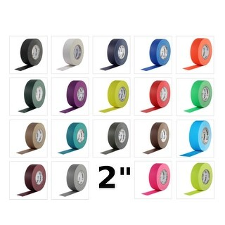 Pro Gaff Gaffers Tape 2 inch x 55 yard 24 Roll Case (Choose Color)