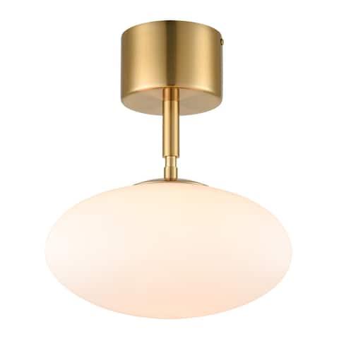 Light Society Alby Pendant Light - Brushed Brass/White