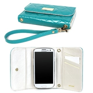 JAVOedge Vintage Quilted Wallet Case for the Samsung Galaxy S3 (Turquoise) - Turquoise