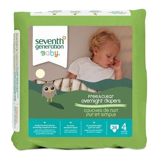 Seventh Generation Bby Diapers, Stage 4, Ovrnight - (Case of 4 - 24 ct)