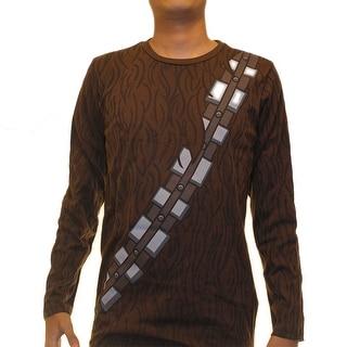Star Wars Chewbacca Costume Men's Brown T-shirt