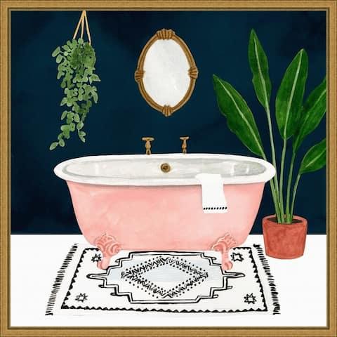 Boho Bath II by Victoria Borges Framed Canvas Art
