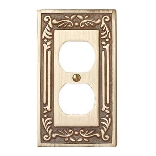 Brass Outlet Cover Switch Plate Vintage Style Victorian Wall Plate Set of 3