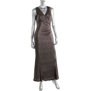 Lauren Ralph Lauren Womens Petites Metallic Prom Evening Dress
