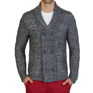 Nautica NEW Gray Mens Size Large L Shawl Collar Cardigan Sweater