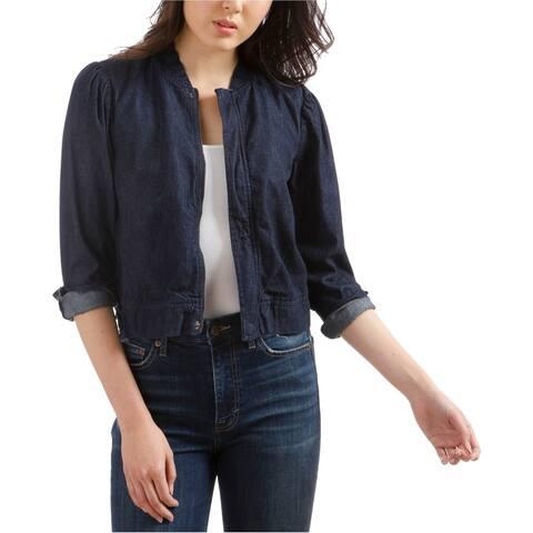 Lucky Brand Womens Shrunken Bomber Jacket