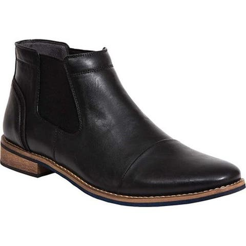 Deer Stags Men's Argos Chelsea Boot Black/Black Simulated Leather