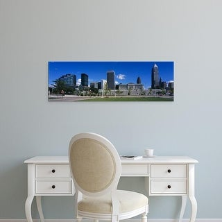 Easy Art Prints Panoramic Images's 'Buildings in a city, Cleveland, Ohio, USA' Premium Canvas Art