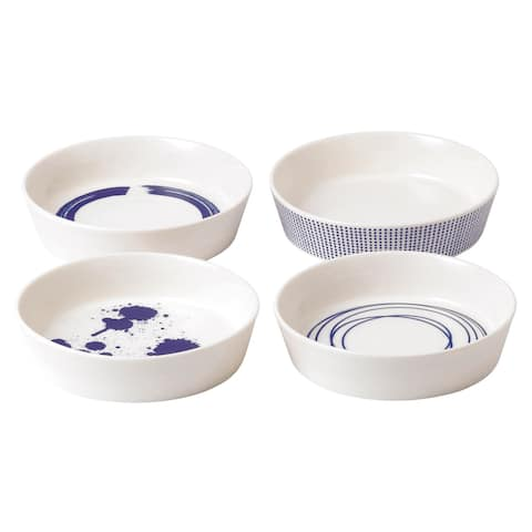 Pacific Mixed Patterns Round Serving Bowls, Set of 4