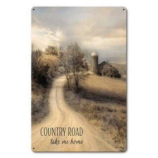 Penny Lane LANE246 12 x 18 in. Country Road Take Me Home Metal Sign