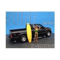 Surfer Jodi Figure For 1:18 Diecast Model Cars by American Diorama