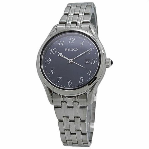 Seiko Women's SUR641 'Neo Classic' Stainless Steel Watch - Blue