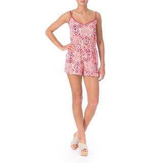 Ultra Flirt Womens Juniors Printed Sleeveless Romper