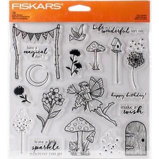 "Fiskars Clear Stamps 8""X8""-Fairy Garden"
