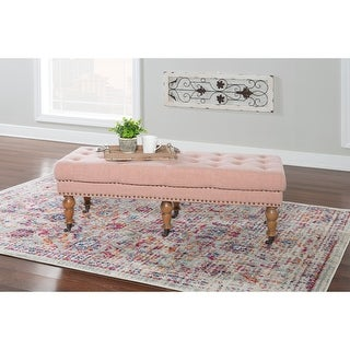 Link to Copper Grove Pereiaslav 50-inch Tufted Pink Bench Similar Items in Living Room Furniture