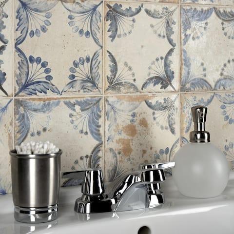 "SomerTile Oldker 13"" x 13"" Ceramic Floor and Wall Tile"