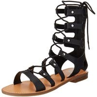 G by GUESS Hopey Gladiator Sandals Black - 6.5 b(m)